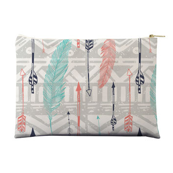 Feathers and Arrows Print Pouch