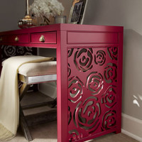 """Red Egg - """"Janette"""" Rose Console - Horchow"""