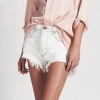 COCONUT LE WOLVES MID LENGTH DENIM SHORTS