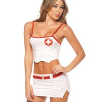 Crop Top Head Nurse Costume