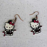 Punk hello kitty earrings by MyBoxcreations on Etsy