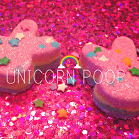 Unicorn Poop Bunny Bath Bombs, vegan, organic