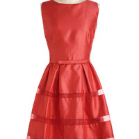 Dinner Party Darling Dress in Poppy