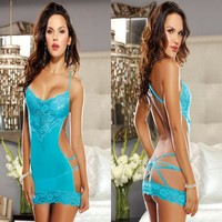 Cute On Sale Hot Deal Sexy Backless Hollow Out Lace Club Exotic Lingerie [6595818627]