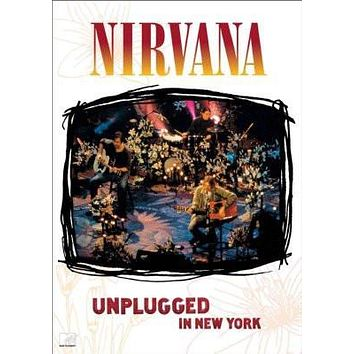 Nirvana Unplugged poster Metal Sign Wall Art 8in x 12in