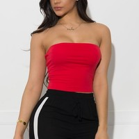 Noel Tube Top - Red