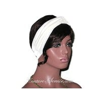 Handmade Cream Bandeau Headband Turban