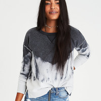 AE Cozy Inside & Out Tie-Dye Sweatshirt, True Black