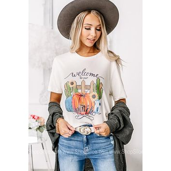 Welcome To Our Patch Graphic Tee