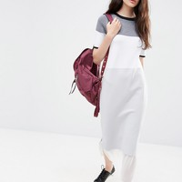 ASOS Knitted Column Dress in Colour Block