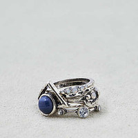 AEO Lapis Stone Ring 5-Pack , Silver