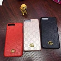 GG Fashion Personality Leather iPhone Phone Cover Case For iphone 7 7plus 8 8plus X XR XS MAX 11 Pro Max 12 Mini 12 Pro Max