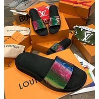 shosouvenir Louis Vuitton LV Brilliant series slippers Black