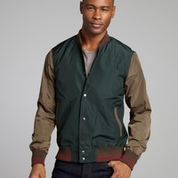 Shades of Grey forest and army waterproof baseball jacket   BLUEFLY up to 70 off designer brands