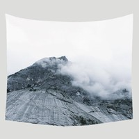 Beacon in the Clouds, Mountain Wall Tapestry