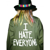 I HATE EVERYONE VINTAGE ARMY JACKET
