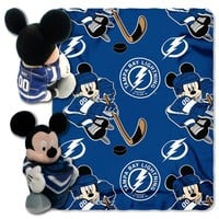 Tampa Bay Lightning NHL Mickey Mouse with Throw Combo