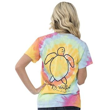 """Youth Simply Southern Turtle """"Tie dye Logo"""" Short Sleeve Tee"""