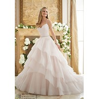 Mori Lee 2873 Layered Ball Gown Sample Sale Wedding Dress