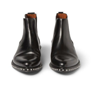 Givenchy - Studded Polished-Leather Chelsea Boots | MR PORTER