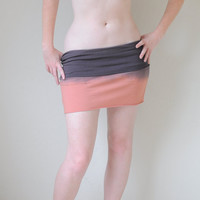 Ombre Dyed Mini Skirt in Stretch Knit Cotton in by SewRed on Etsy