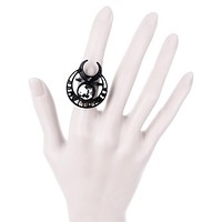 Witch Moon Ring - Witchy Moon Occult Crescent Moon Fashion Ring