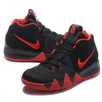 Best Deal Online Nike Kyrie 4 Ivring Black Red Men Sneakers