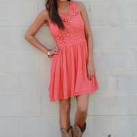 Country Chic Dress, coral