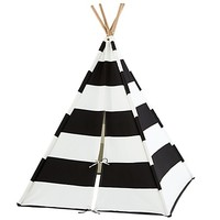 A Teepee to Call Your Own (Black Stripe) | The Land of Nod