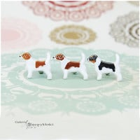Jack russell jrt stud-  ceramic stud, dog lover, mini ,tiny dog