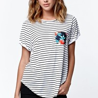 Rip Curl Songbird Stripe T-Shirt - Womens Tee - White