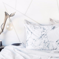 Made of Tomorrow | White Marble Pillowcase