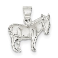Sterling Silver Donkey Pendant QC4127