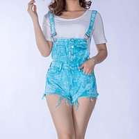 Fashion Fun Denim Short Overalls