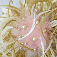 Feather Bouquet, Wedding Bouquet, Bridal Bouquet, Brooch Bouquet, Gold, Blush Pink, Couture Bouquet, Modern Bouquet