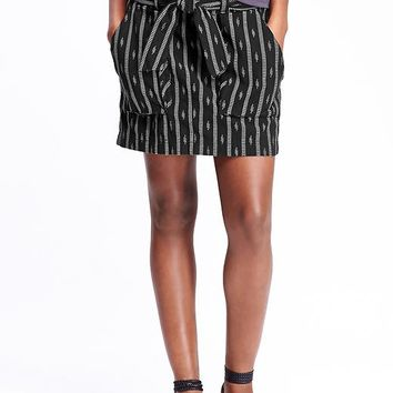 Old Navy Womens Belted Jacquard Skirts