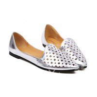 Casual Women's Flat Shoes With Simple Openwork and Pointed Toe Design