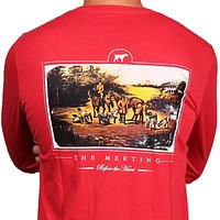 SPC Signature Long Sleeve The Meeting Tee in Red by Southern Point Co.