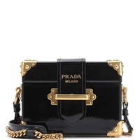 Cahier patent leather shoulder bag