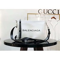 BALENCIAGA 2018 new fashion women's high-end graffiti series shoulder bag F-AGG-CZDL white