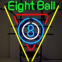 Eight Ball Neon Sign Real Neon Light