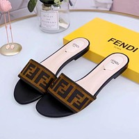 Fendi Flat bottomed slippers-4
