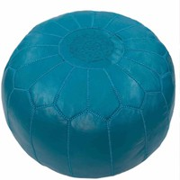 nuLOOM Moroccan Turquoise Pouf