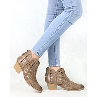 Alesso Chunky Stacked Heel Cut Out Bootie in More Colors