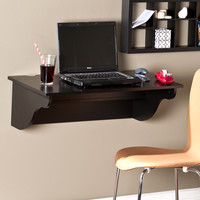 Barrie Wall Mount Desk Ledge, Black
