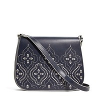 Vera Bradley Morocco Navy Laser-Cut Saddle Crossbody