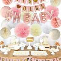 It's A Girl Baby Shower Decoration Party Kit