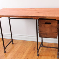 Sturdy Sentiments Desk Reclaimed Wood with Drawer (optional)