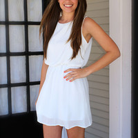 Hide and Go Chic Dress - White - Hazel & Olive