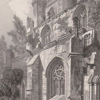 Antique Print Dunkeld Cathedral Scotland (A72) by Grandpa's Market